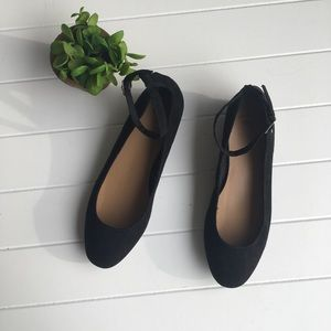 [GAP] Basic Small Heeled Strappy Flats Buckle Cute